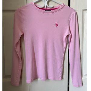 RALPH LAUREN pink polo shirt